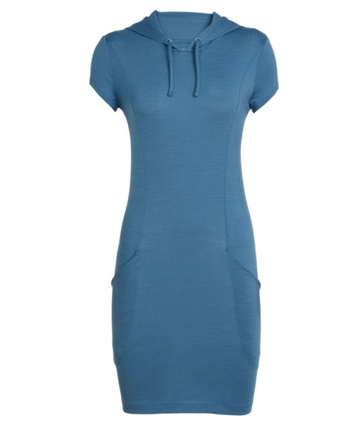 šaty z merino vlny Icebreaker Yanni Hooded dress lady
